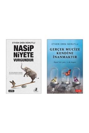 Olimpos Yayınları Nasip Niyete Vurgundur , Gerçek Mucize Kendine Inanmaktır , Ethem Emin Nemutlu , (ikili Set)