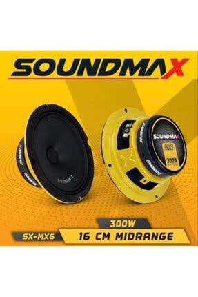 Soundmax 16 Cm Midrange Ciftti 600wat 200rms Iki Adet
