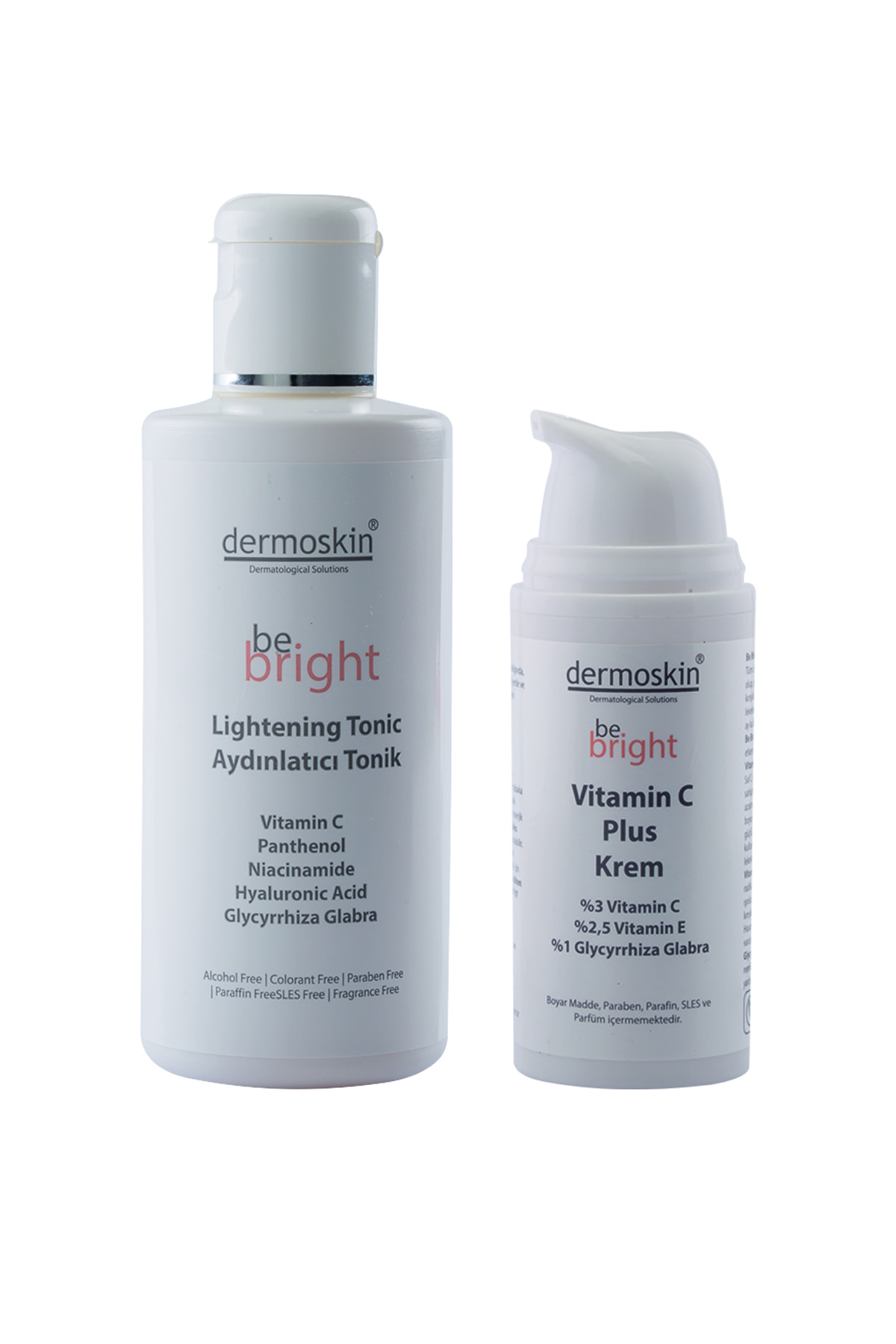 Dermoskin Be Bright Vitamin C Plus Krem 33ml + Be Bright Aydınlatıcı Tonik 200ml 1