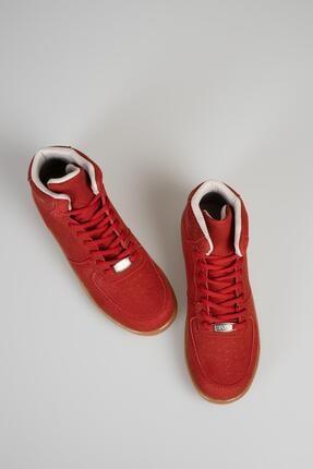 MUGGO Unisex Kırmızı Süet Sneaker