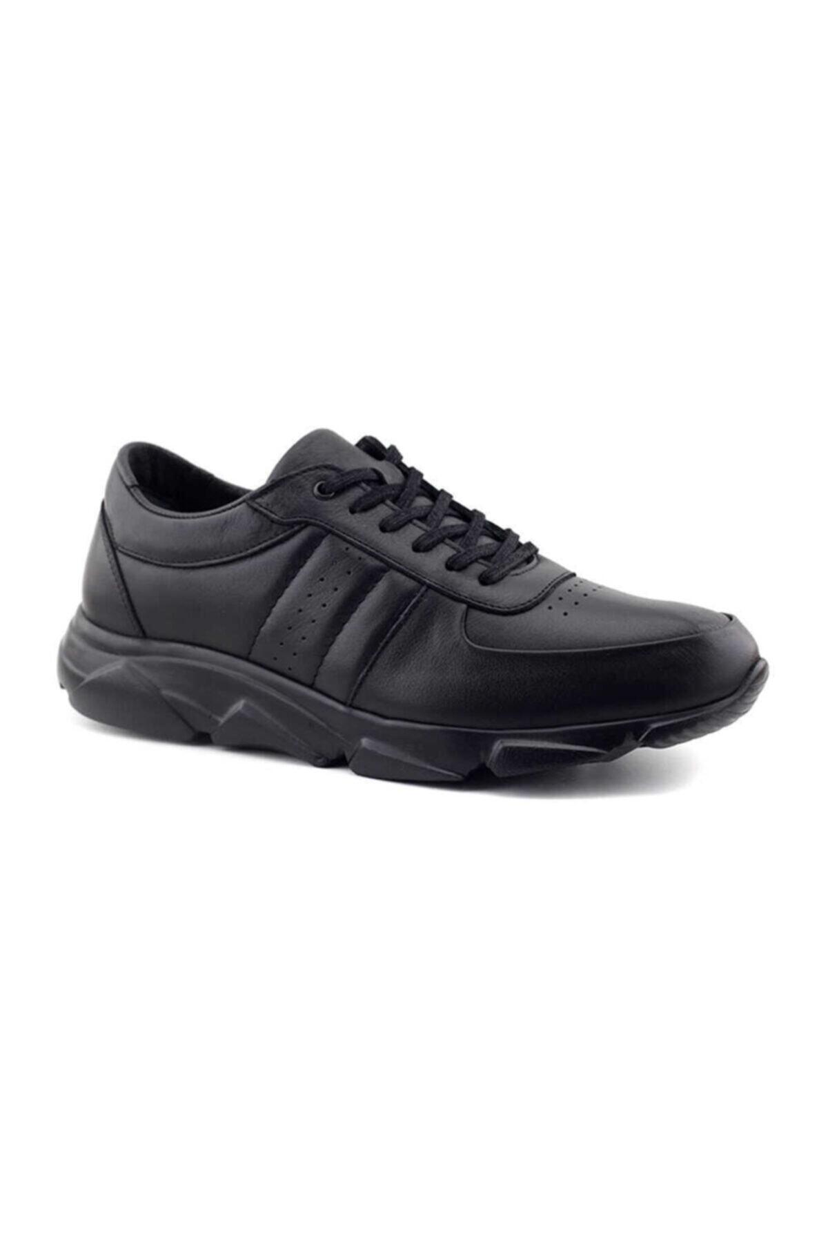 Kayra Erkek Siyah Hakiki Deri Ayakkabı 1