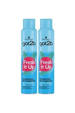 SCHWARZKOPF HAIR MASCARA Got2b Fresh It Up Volume Kuru Şampuan 200 Ml 2 Adet