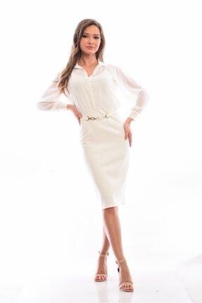 PARK BRAND Kadın Ekru Elbise Spring Elbise
