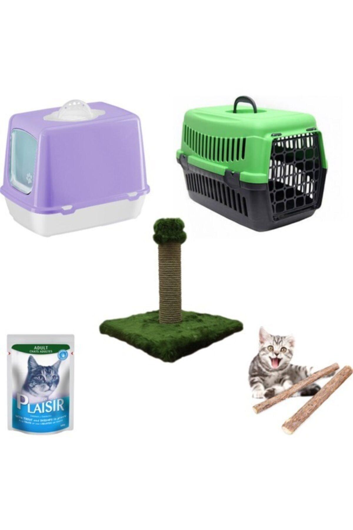 Pet Style Petfony Kapalı Kedi Tuvaleti, Kedi Taşıma Çantası,yaş Mama,tırmalama 1