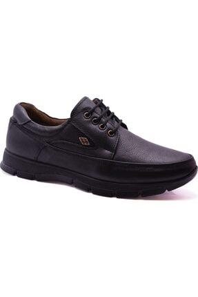 ULUSOY Erkek Siyah Hakiki Deri Ortopedik Kışlık Ayakkabı