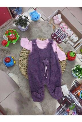 Minisse Kız Bebek Pembe Welsoft Salopet Tulum