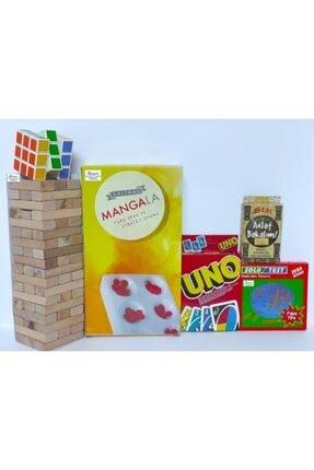 Brother Toys Denge Oyunu-UNO-Anlat Bakalım-Zeka Küpü-Mangala-Solo Test 6lı Set