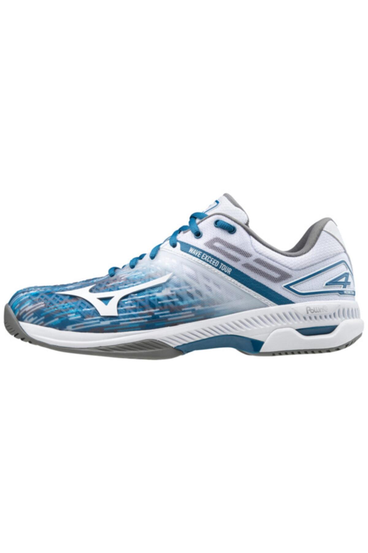 MIZUNO Erkek Beyaz Wave Exceed Tour 4 Ac Unisex Tenis Ayakkabısı 1