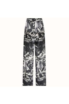 Naia İstanbul Kadın Siyah Beyaz Desenli Milky Pantolon