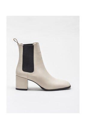 Elle Shoes Bej Deri Kadın Günlük Bot