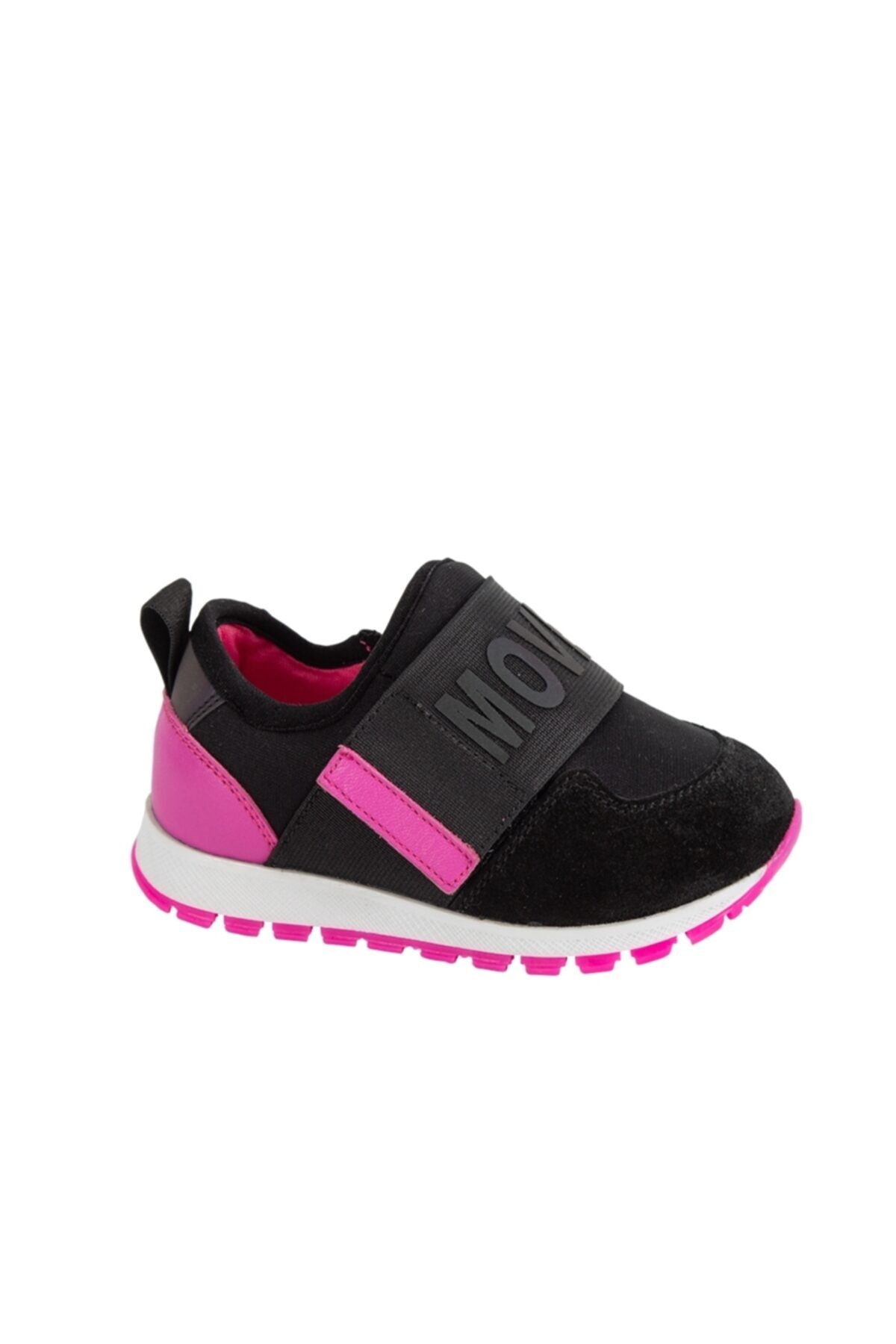kids A more Siyah Hafif Tabanlı Esnek Tek Cırtlı Ayakkabı 1