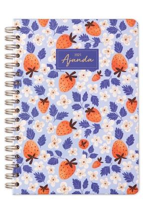 Matt Notebook 2021 Haftalık Planlayıcı Çilek Ajanda