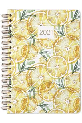 Matt Notebook 2021 Limon Haftalık Planlayıcı Ajanda