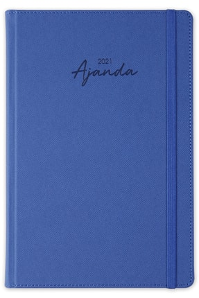 Matt Notebook MaviGünlük Ajanda 2021