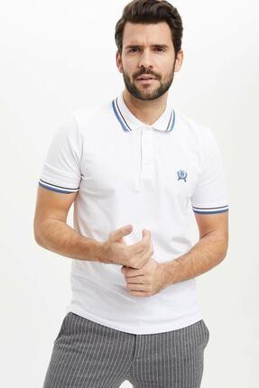 DeFacto Erkek Beyaz Polo Yaka T-Shirt
