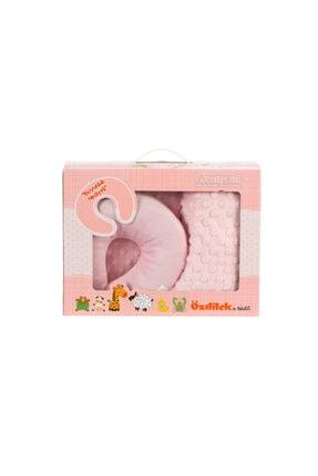 Özdilek Tomurcuk Boyun Yastıklı Bebek Battaniyesi Pembe 90x110