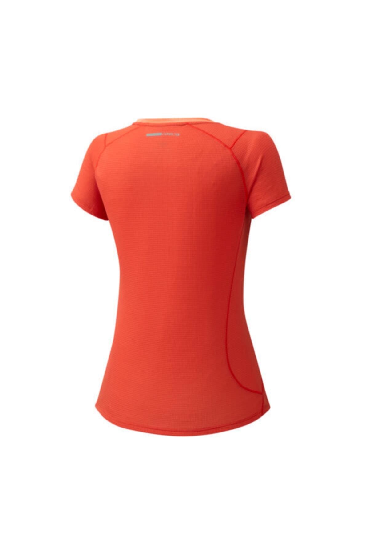 MIZUNO Dry Aeroflow Tee Kadın Turuncu T-shirt 2