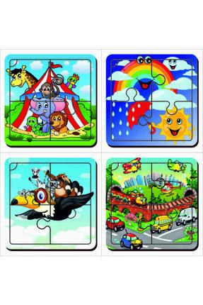 MAKETÇİNİZ 4 Adet Ilk Puzzlem Ahşap Yapboz Set-1