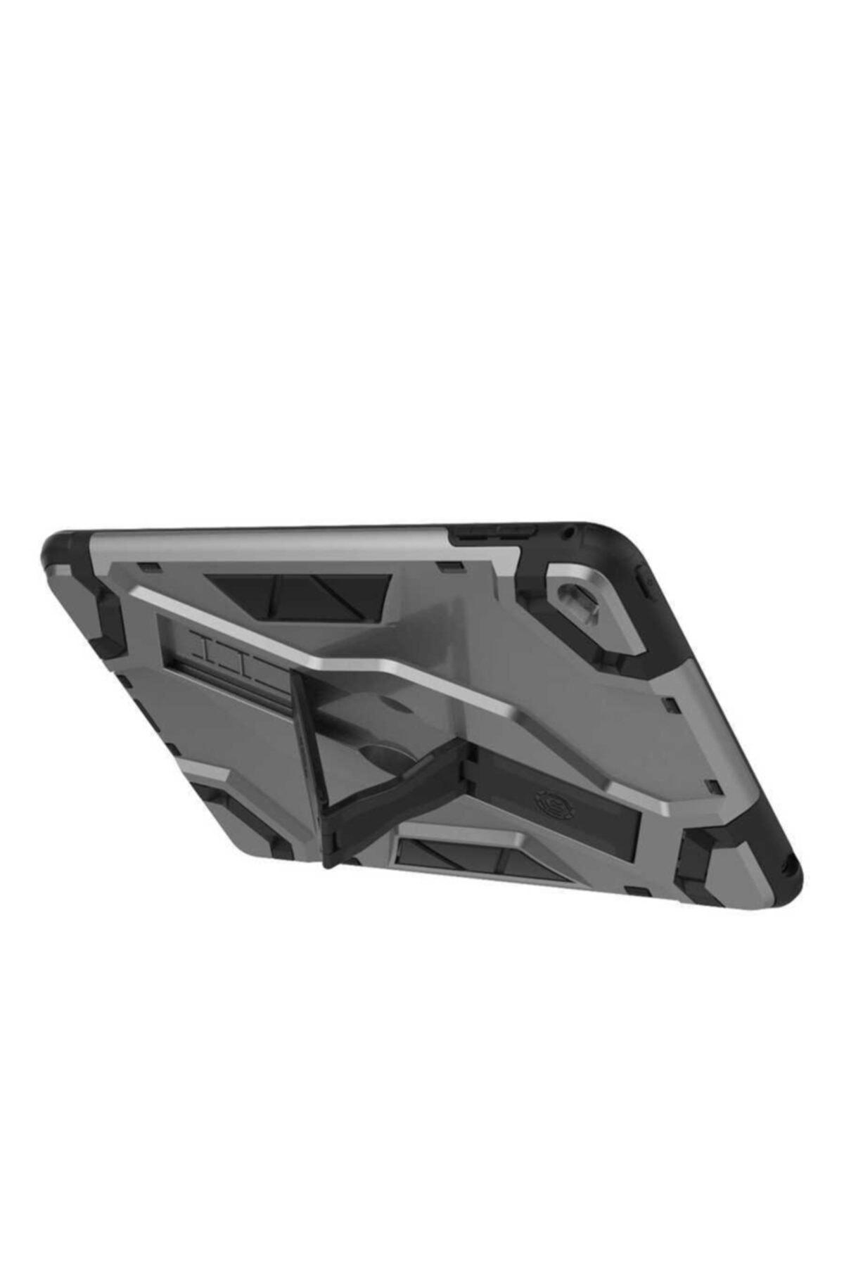 zore Apple Ipad Mini 5 Kılıf Tank Zırhlı Standlı Korumalı Metalik Kapak 2