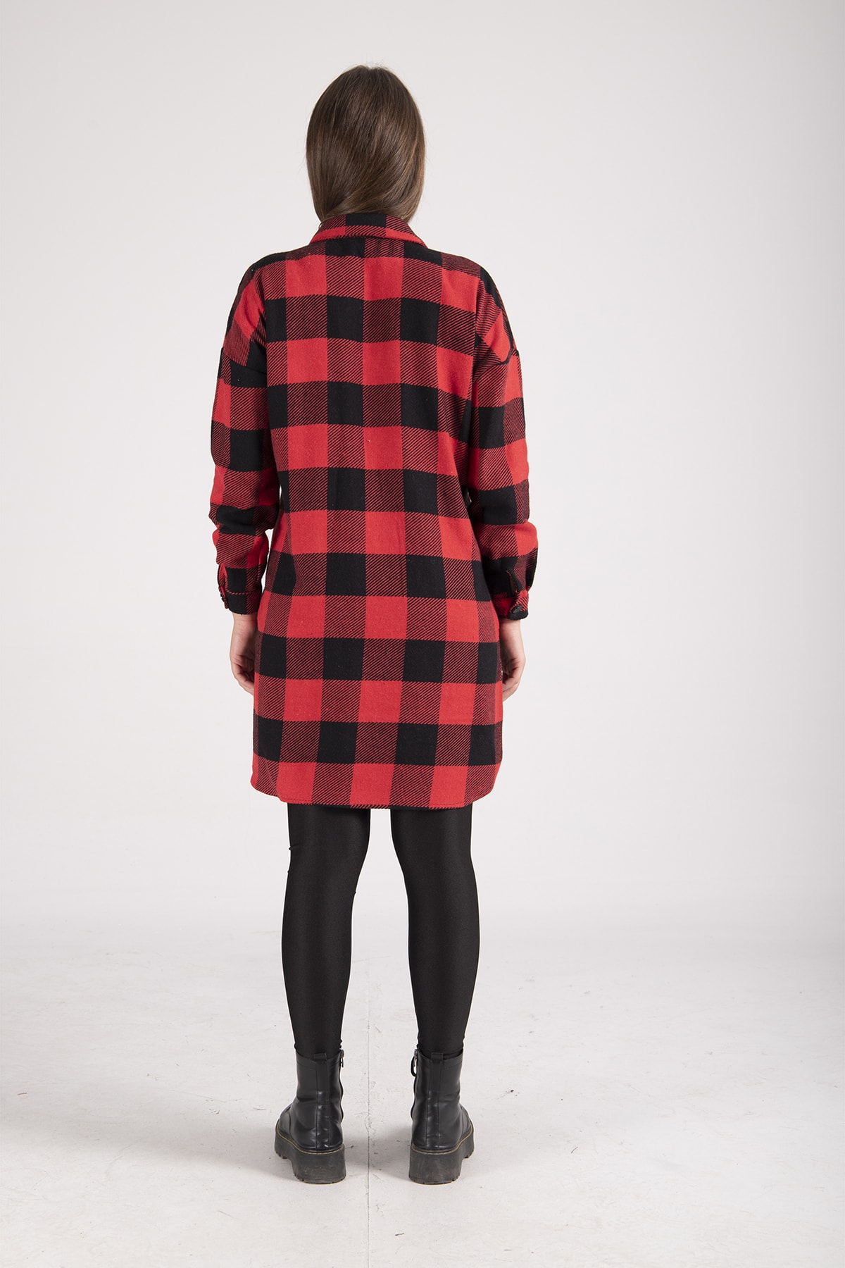 Ardanewline Kadın Kırmızı Oduncu Gömleği 2