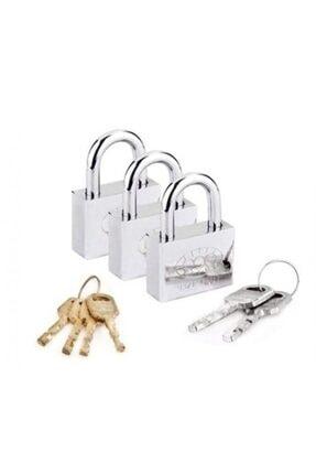 vebura Tek Anahtarla Açılan Çelik Asma Kilit 3 Adet