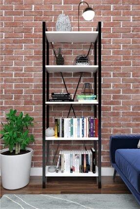 Evdesa Beyaz Metal Kitaplık 180x60 cm