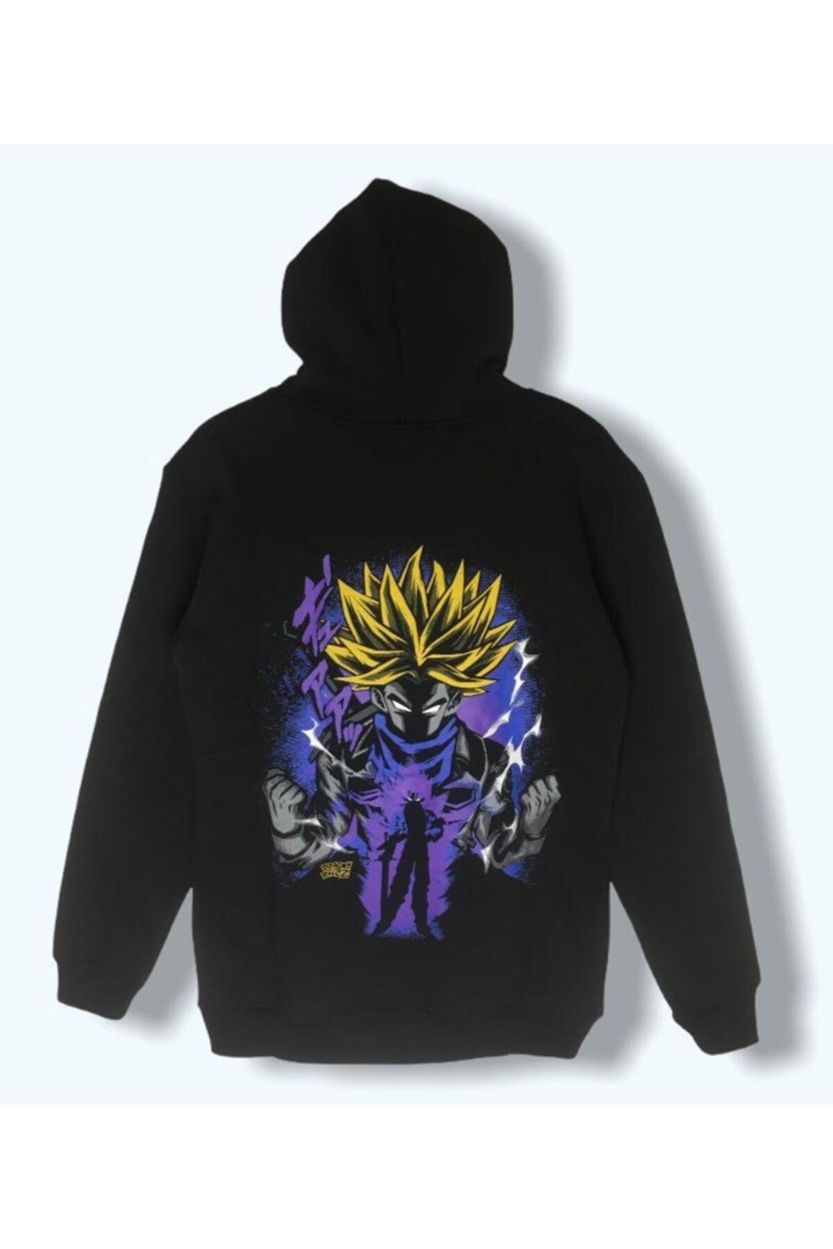 LUCKY Kadın Siyah Dragon Sweatshirt 1
