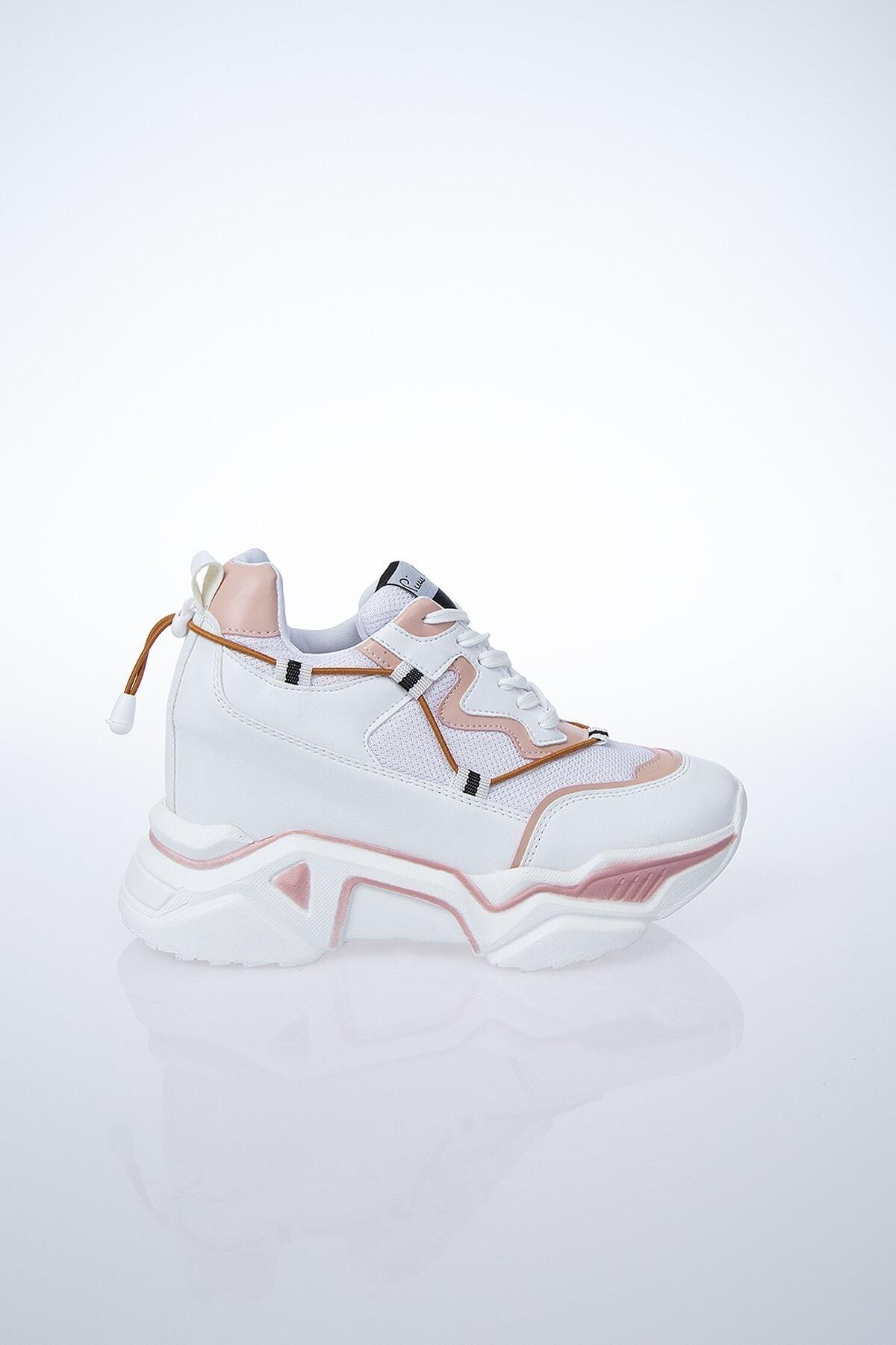 Pierre Cardin PC-30192 Beyaz-Pudra Kadın Spor Ayakkabı 1