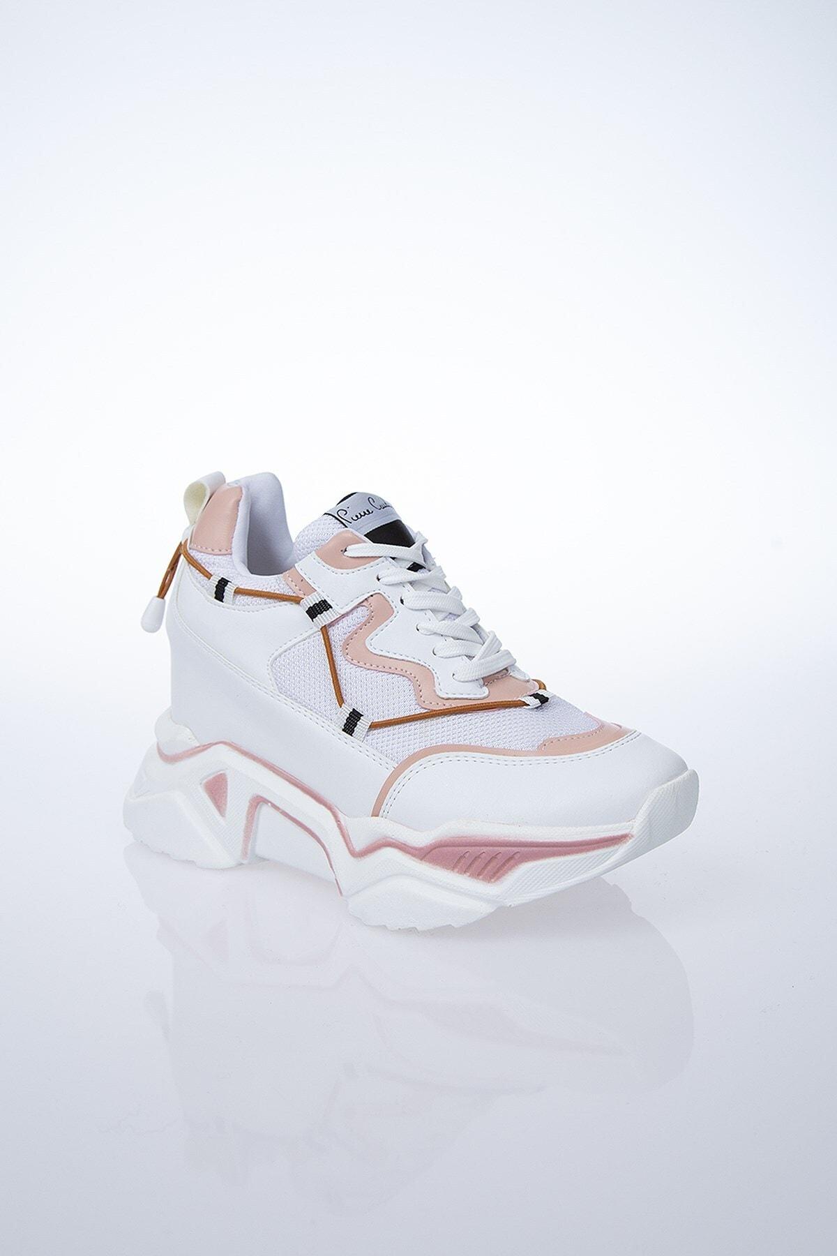 Pierre Cardin PC-30192 Beyaz-Pudra Kadın Spor Ayakkabı 2
