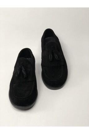 Bayramoğlu Erkek Siyah Corcuk Hakiki Deri Püsküllü Süet Ayakkabı