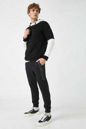 Koton Erkek Siyah Cepli Normal Bel Esofman Alti 1KAM44018OK
