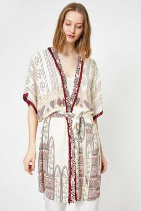 Koton Bej Desenli Kadın Kimono / Kaftan 0YAK53204EW