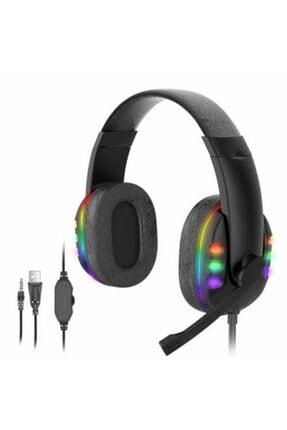 zore Gamer Oyuncu Mikrofonlu Kulaklığı 3.5mm Stereo Ses Rgb