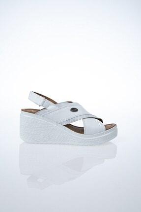Pierre Cardin PC-6045 Beyaz Kadın Sandalet
