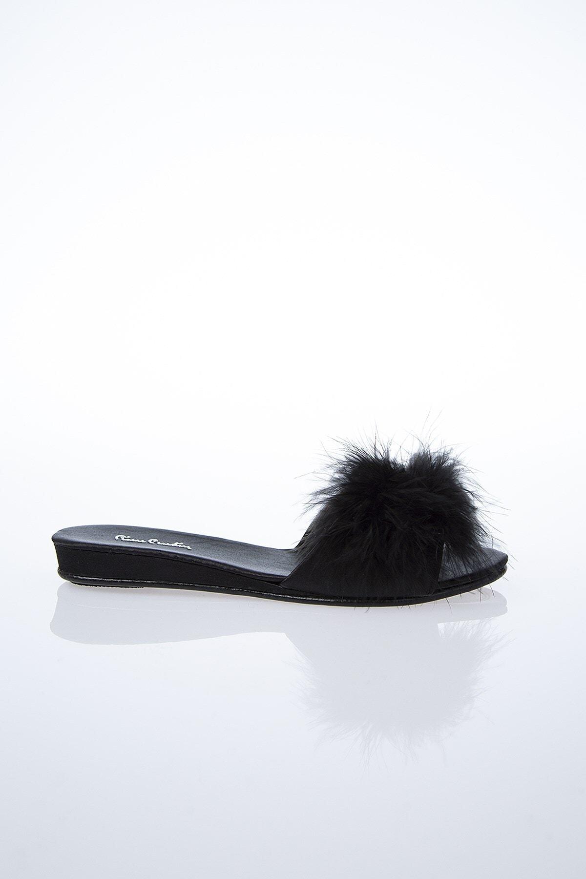Pierre Cardin Kadın Siyah Terlik Pc-0015 1
