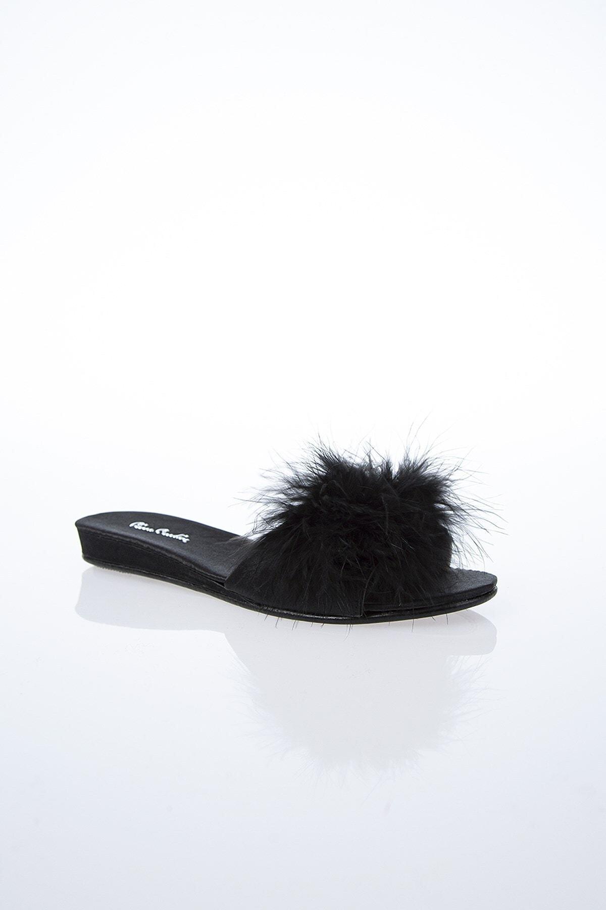 Pierre Cardin Kadın Siyah Terlik Pc-0015 2