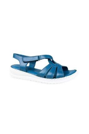 Ceyo 122 Kadın Hakiki Deri Ortopedik Sandalet