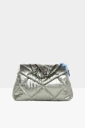 Bagmori Kadın Gümüş Kapitone Şişme Kapaklı Çanta M000005304