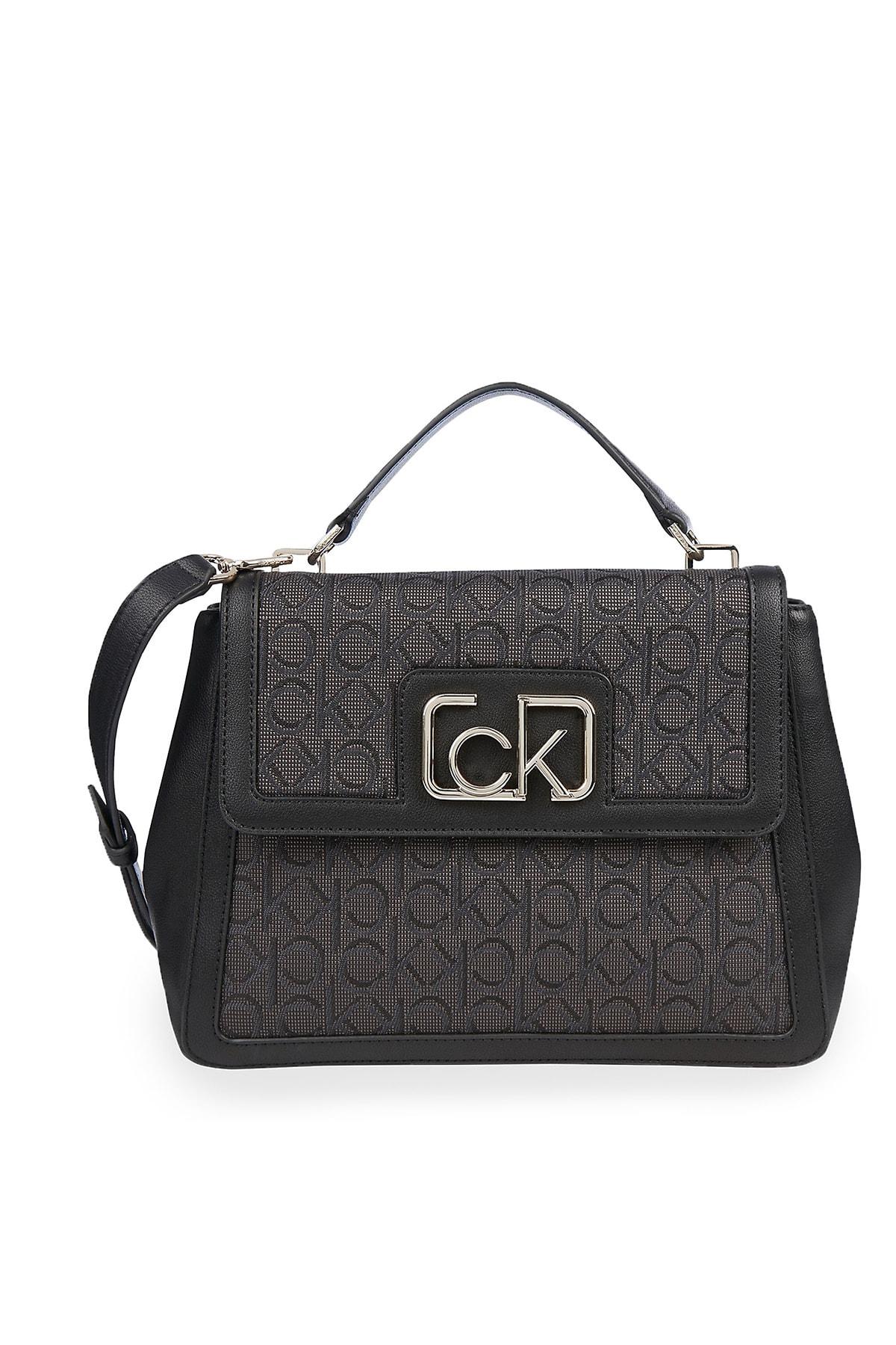 Calvin Klein Kadın Siyah Logo Baskılı Ayarlanabilir Askılı Çanta K60k607109 0gs 1