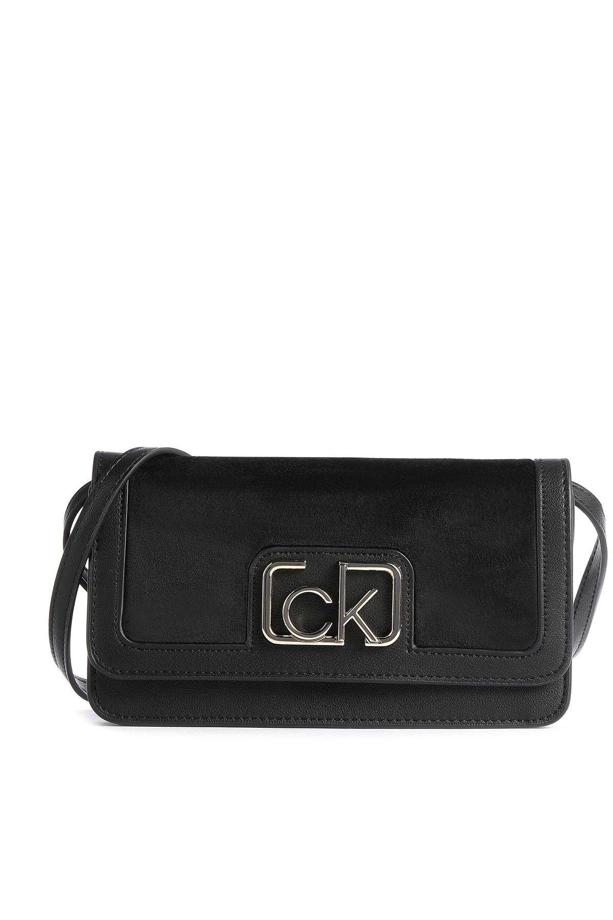 Calvin Klein Kadın Siyah Logo Baskılı Çanta K60k607118 1