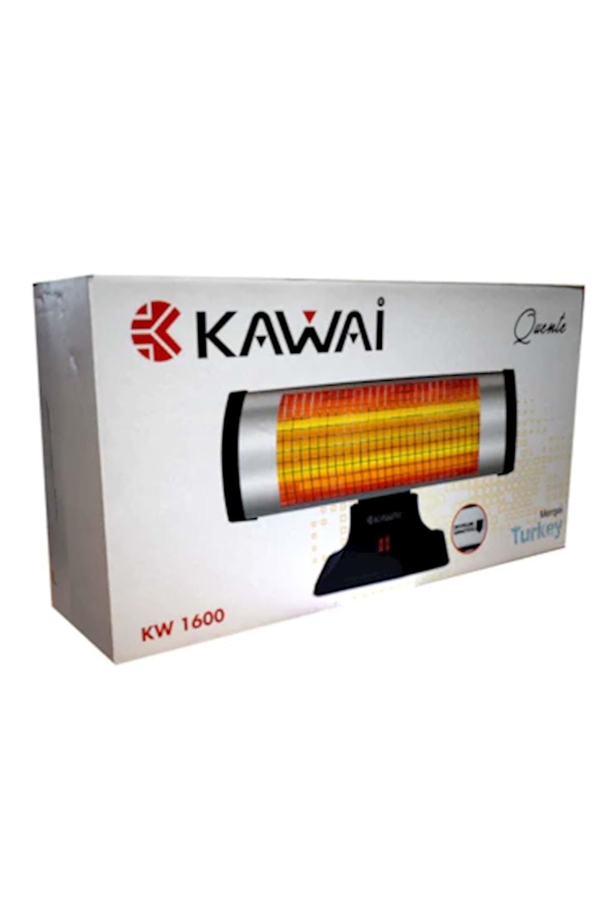 Kawai Kw-1600w 2 Çubuk Elektrikli Soba Isıtıcı Devrilme Emniyet Düğmel 2