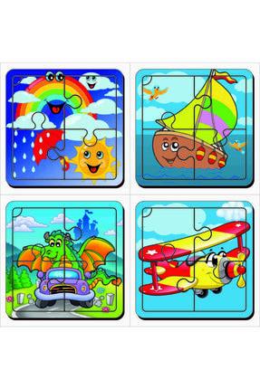 MAKETÇİNİZ 4 Adet Ilk Puzzlem Ahşap Yapboz Set-3
