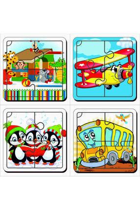 MAKETÇİNİZ 4 Adet Ilk Puzzlem Ahşap Yapboz Set-8