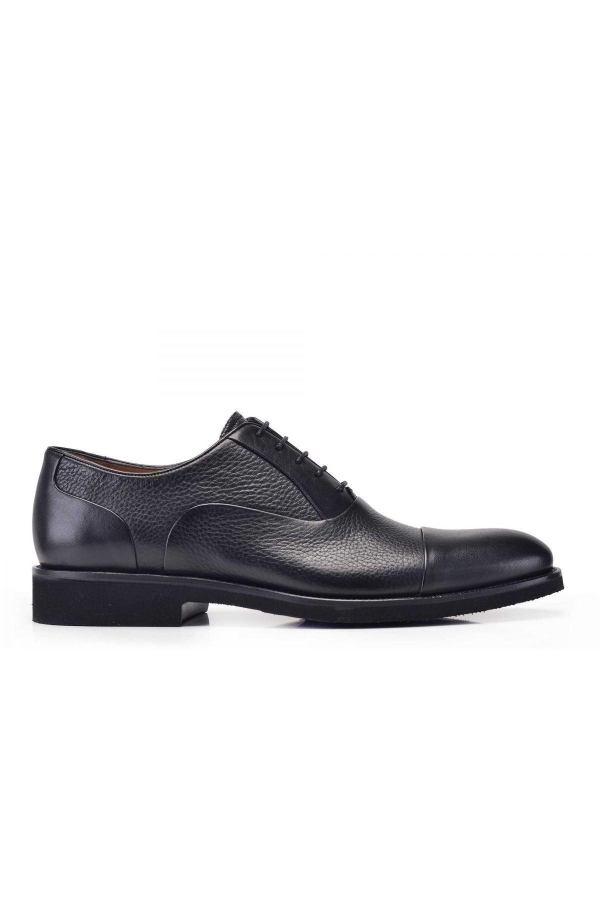 Nevzat Onay Hakiki Deri Siyah Bağcıklı Erkek Ayakkabı 1