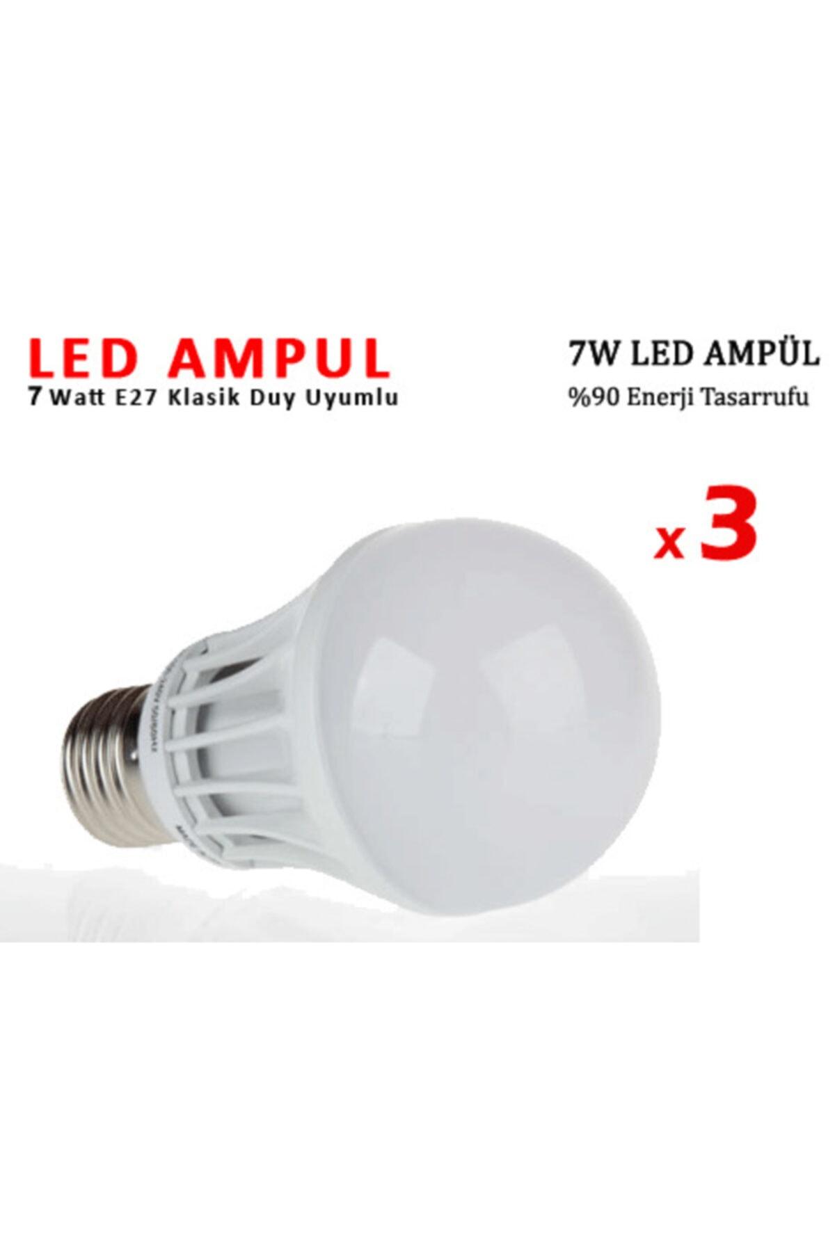 Bifirsat Led Ampul Lamba Işık Elektrik Enerji Tasarruflu 7watt 3adet  Fiyatı, Yorumları - TRENDYOL