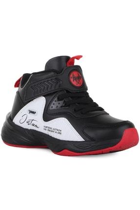 Jump Erkek Çocuk Siyah Beyaz Basket Ayakkabısı 25772
