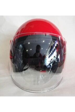 MTK Kırmızı Motosiklet Kaskı