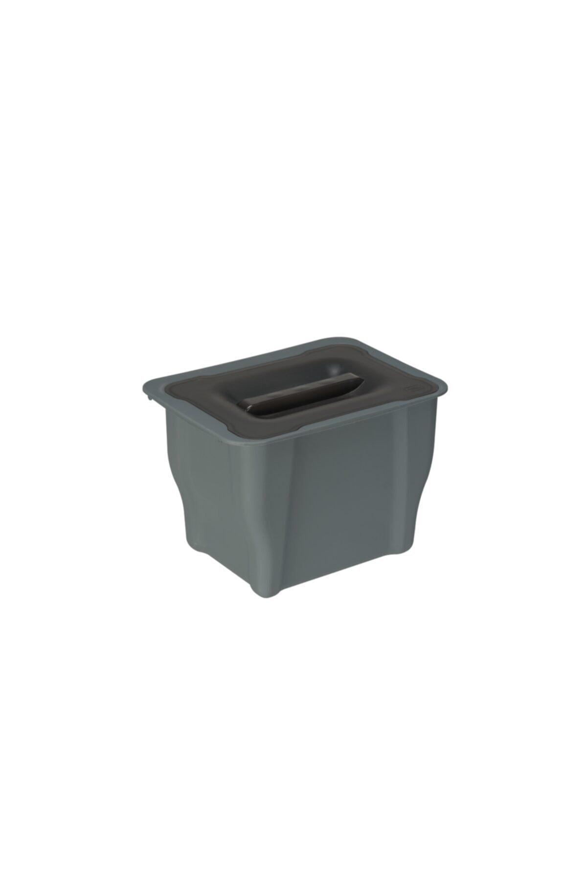 Pelikan Antrasit Pelikan Joker Çok Amaçlı Mutfak Çöp Kovası Yüksek Kalite Plastik 5 Litre 2