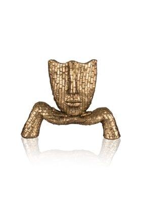 Porio Altın Kadın Biblo 28cm