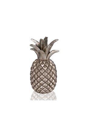 Porio Gümüş Ananas Dekor Biblo  30 cm